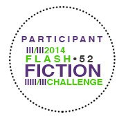Flash fiction badge on my blog, because it's somehow less awkward than pinning a badge to my sweater. Right?